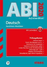 Abi - auf einen Blick! Deutsch Nordrhein-Westfalen 2020 -  pdf epub