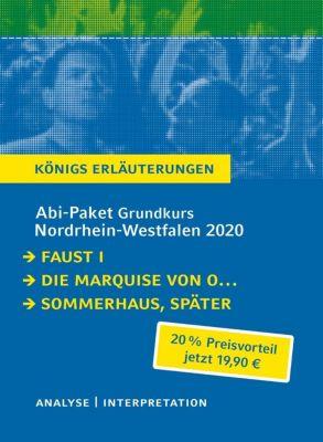 Abi-Paket Grundkurs Nordrhein-Westfalen 2020 - Königs Erläuterungen, 3 Bde., Johann Wolfgang von Goethe, Heinrch von Kleist, Judith Hermann
