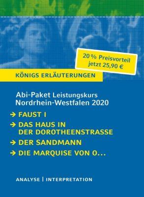 Abi-Paket Leistungskurs Nordrhein-Westfalen 2020 - Königs Erläuterungen, 4 Bde., Johann Wolfgang von Goethe, Heinrich von Kleist, E.T.A. Hoffmann, Hartmut Lange