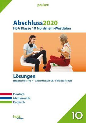 Abschluss 2020 - Hauptschulabschluss Klasse 10 Nordrhein-Westfalen Lösungen