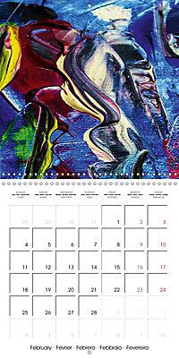 Abstract acrylic (Wall Calendar 2019 300 × 300 mm Square) - Produktdetailbild 2