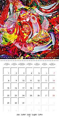 Abstract acrylic (Wall Calendar 2019 300 × 300 mm Square) - Produktdetailbild 7