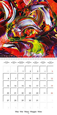Abstract acrylic (Wall Calendar 2019 300 × 300 mm Square) - Produktdetailbild 5