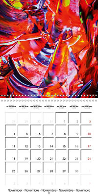Abstract acrylic (Wall Calendar 2019 300 × 300 mm Square) - Produktdetailbild 11