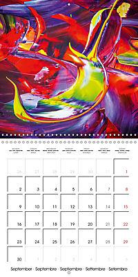 Abstract acrylic (Wall Calendar 2019 300 × 300 mm Square) - Produktdetailbild 9