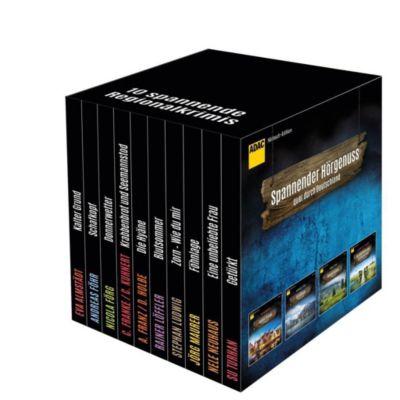 ADAC Hörbuch-Edition Regionalkrimis 2017, 10 MP3-CDs, Nicola Förg, Jörg Maurer, Stephan Ludwig, Su Turhan, Andreas Franz, Daniel Holbe, Eva Almstädt, Andreas Föhr