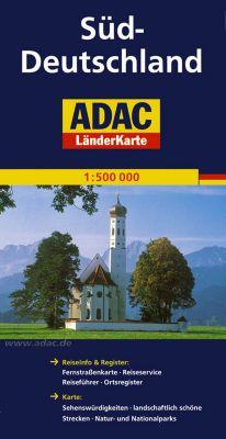 ADAC Karte Deutschland Süd