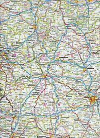 ADAC Länderkarte Deutschland 1:800 000 mit Parkscheibe - Produktdetailbild 1