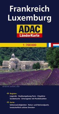 ADAC Länderkarte Frankreich, Luxemburg