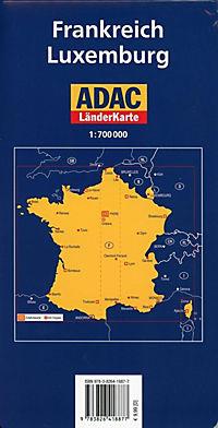 ADAC Länderkarte Frankreich, Luxemburg - Produktdetailbild 1