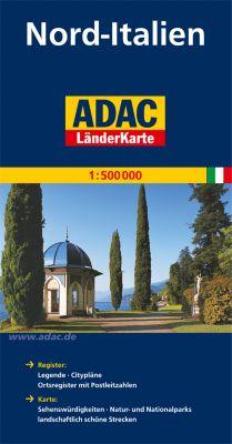 ADAC Länderkarte Italien Nord