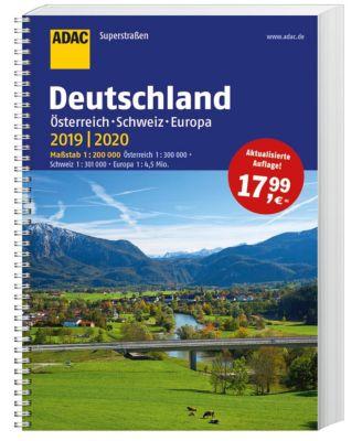 ADAC Superstraßen Deutschland, Österreich, Schweiz & Europa 2019/2020 1:200 000
