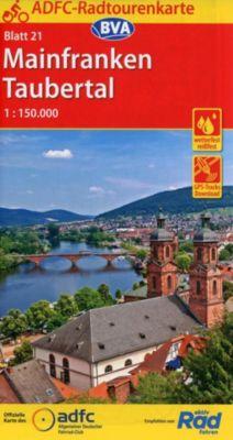 ADFC-Radtourenkarte 21 Mainfranken Taubertal 1:150.000, reiß- und wetterfest, GPS-Tracks Download