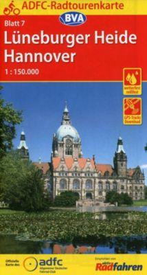 ADFC-Radtourenkarte Lüneburger Heide / Hannover -  pdf epub
