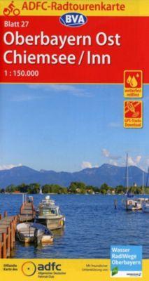 ADFC-Radtourenkarte Oberbayern Ost / Chiemsee / Inn