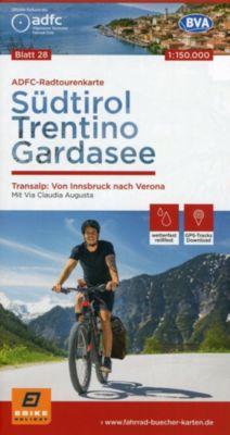 ADFC-Radtourenkarte Südtirol, Trentino, Gardasee 1:150.000, reiß- und wetterfest, GPS-Tracks Download