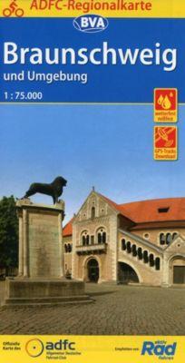 ADFC-Regionalkarte Braunschweig und Umgebung, 1:75.000, reiß- und wetterfest, GPS-Tracks Download