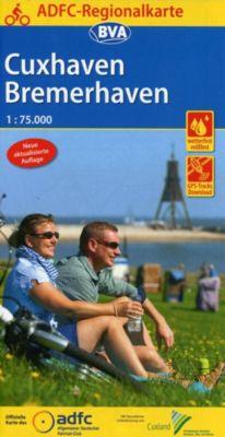 ADFC-Regionalkarte Cuxhaven Bremerhaven mit Tagestouren-Vorschlägen, 1:75.000, reiß- und wetterfest, GPS-Tracks Download -  pdf epub