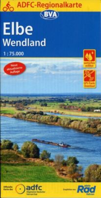 ADFC-Regionalkarte Elbe Wendland 1:75.000, reiß- und wetterfest, GPS-Tracks Download -  pdf epub