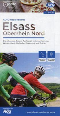 ADFC-Regionalkarte Elsass Oberrhein Nord