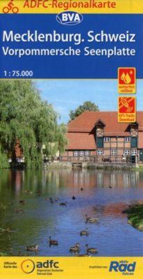 ADFC-Regionalkarte Mecklenburgische Schweiz Vorpommersche Seenplatte, 1:75.000