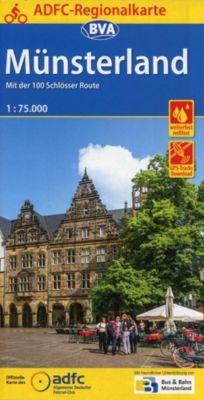 ADFC-Regionalkarte Münsterland mit Tagestouren-Vorschlägen
