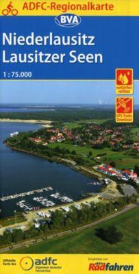 ADFC-Regionalkarte Niederlausitz Lausitzer Seen