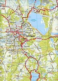 ADFC-Regionalkarte Niederlausitz Lausitzer Seen - Produktdetailbild 2