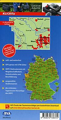 ADFC-Regionalkarte Niederrhein Nord mit Tagestouren-Vorschlägen, 1:75.000, reiß- und wetterfest, GPS-Tracks Download - Produktdetailbild 1