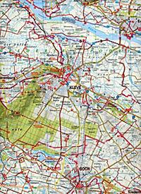 ADFC-Regionalkarte Niederrhein Nord mit Tagestouren-Vorschlägen, 1:75.000, reiß- und wetterfest, GPS-Tracks Download - Produktdetailbild 2