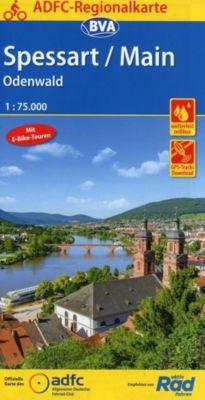 ADFC-Regionalkarte Spessart/Main/Odenwald, 1:75.000, reiß- und wetterfest, GPS-Tracks Download