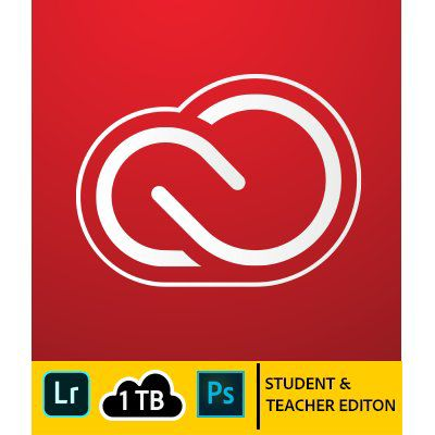 Adobe Creative Cloud Photography Plan 2018 (Student & Teacher Edition) (1Y)