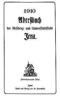 Adreßbuch Einwohnerbuch Jena 1910 - Produktdetailbild 1