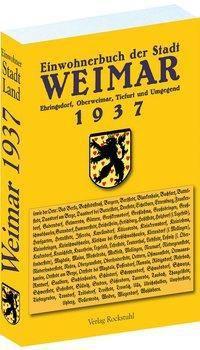 Adressbuch Einwohnerbuch Stadt und Land WEIMAR 1937 in THÜRINGEN