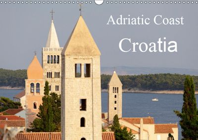 Adriatic Coast Croatia / UK-Version (Wall Calendar 2019 DIN A3 Landscape), Siegfried Kuttig