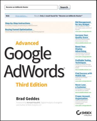 Advanced Google AdWords, Brad Geddes