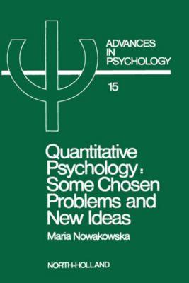Advances in Psychology: Quantitative Psychology, M. Nowakowska