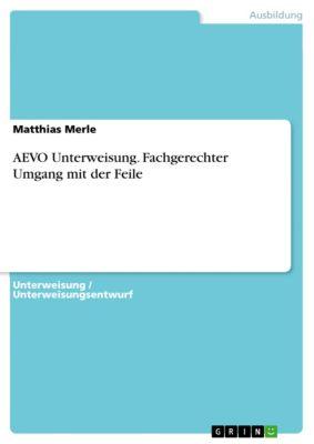 AEVO Unterweisung. Fachgerechter Umgang mit der Feile, Matthias Merle