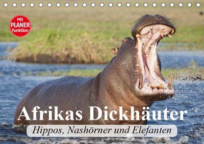 Afrikas Dickhäuter. Hippos, Nashörner und Elefanten (Tischkalender 2019 DIN A5 quer), Elisabeth Stanzer