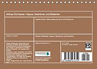 Afrikas Dickhäuter. Hippos, Nashörner und Elefanten (Tischkalender 2019 DIN A5 quer) - Produktdetailbild 13