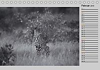 Afrikas Tierwelt in schwarz & weiß (Tischkalender 2019 DIN A5 quer) - Produktdetailbild 2