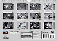 Afrikas Tierwelt in schwarz & weiß (Wandkalender 2019 DIN A4 quer) - Produktdetailbild 13