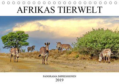 AFRIKAS TIERWELT Panorama Impressionen (Tischkalender 2019 DIN A5 quer), N N