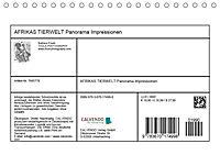 AFRIKAS TIERWELT Panorama Impressionen (Tischkalender 2019 DIN A5 quer) - Produktdetailbild 13