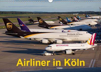 Airliner in Köln (Wandkalender 2019 DIN A3 quer), Rainer Spoddig