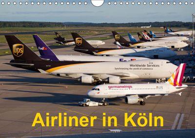 Airliner in Köln (Wandkalender 2019 DIN A4 quer), Rainer Spoddig