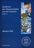 Akademie der Wissenschaften und der Literatur, Jahrbuch 2006, m. CD-ROM