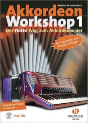 Akkordeon Workshop, m. Audio-CD + DVD, Martina Schumeckers