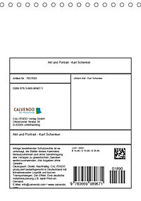 Akt und Portrait - Karl Schenker (Tischkalender 2019 DIN A5 hoch) - Produktdetailbild 13