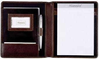 ALASSIO Schreibmappe Monaco A5 dunkelbraun-antik
